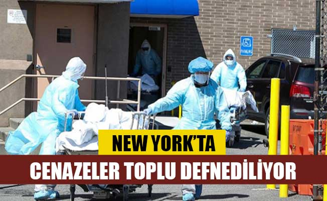 New York'ta cenazeler toplu defnediliyor