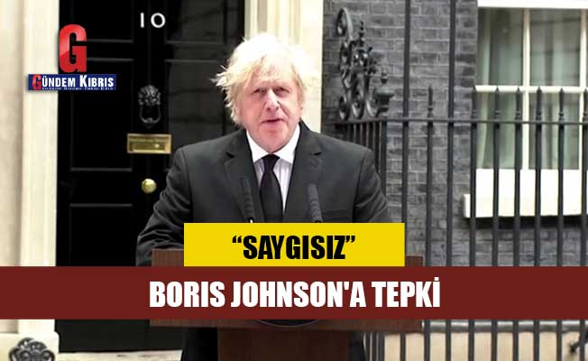 Boris Johnson'a tepki