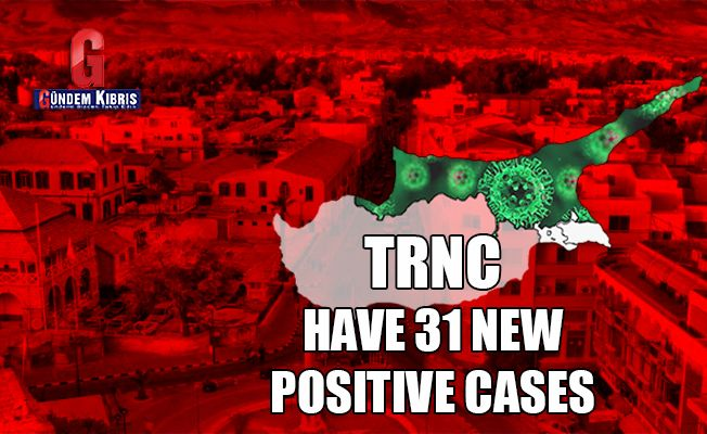 TRNC have 31 new positive COVID-19 cases